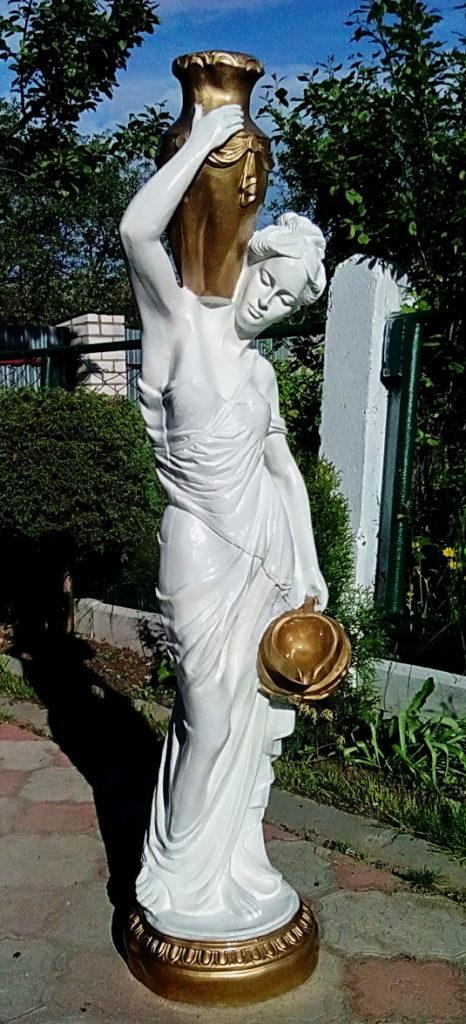 Девушка с кувшинами белая+золото