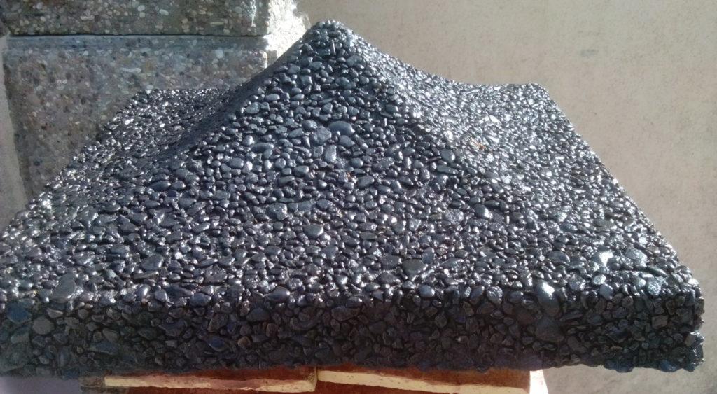 Китайка мытый бетон черная