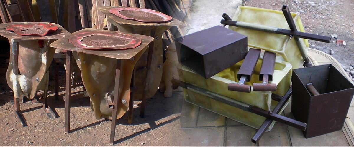 Формы для садовых фигур, формы для блоков забора