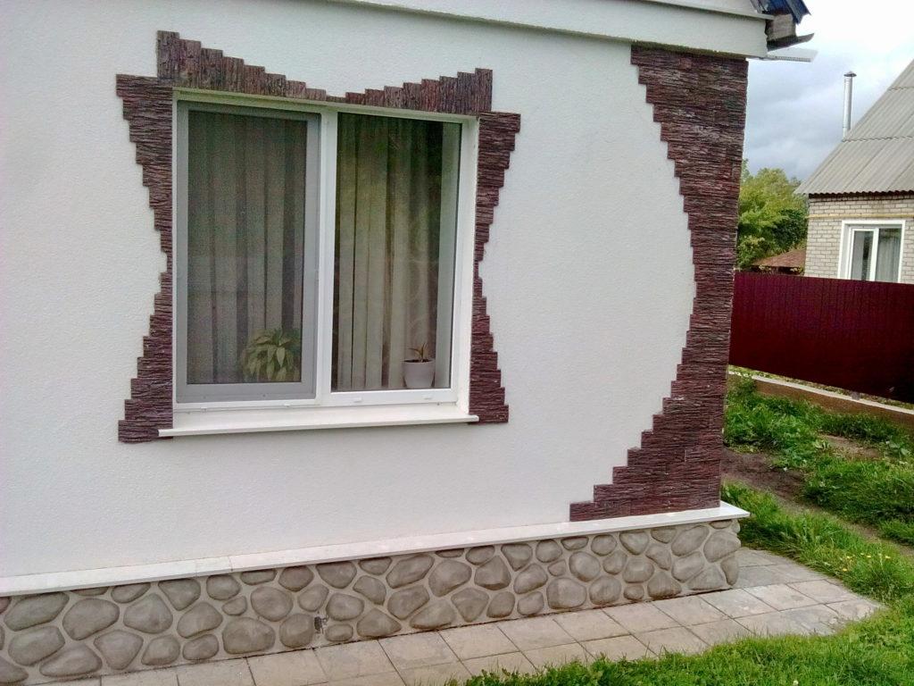 выветренный пласт, отделка окна