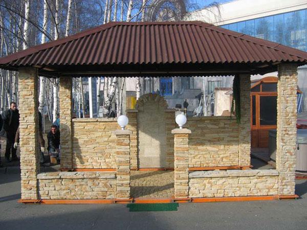 Декоративный двусторонний забор