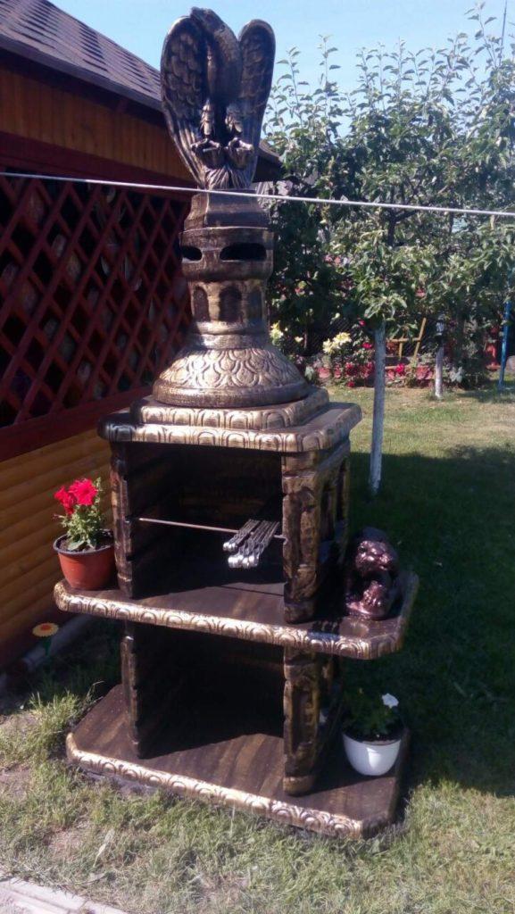 Готовая печь мангал