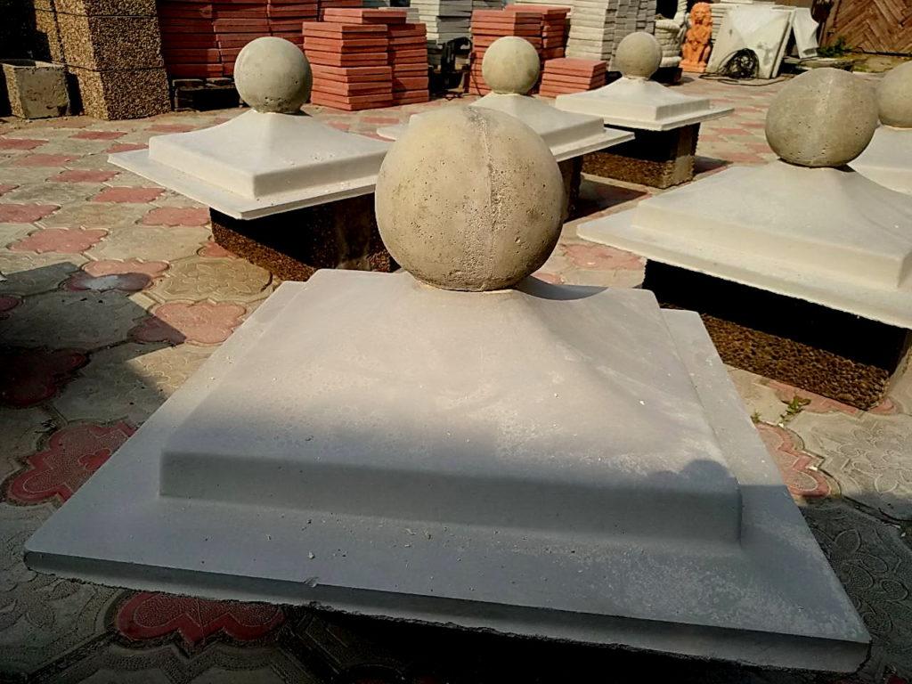 пагода с шаром 50х50х17