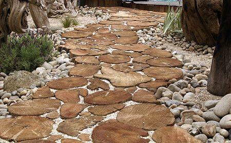 Грунтовые дорожки, каменные дорожки в саду