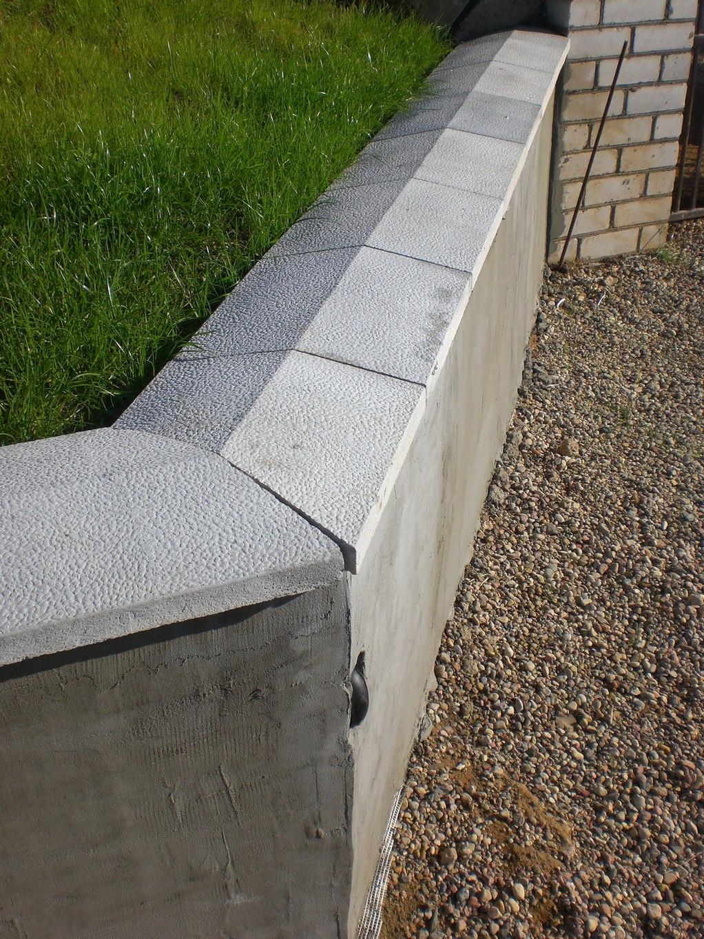 Крышка парапета бетонная