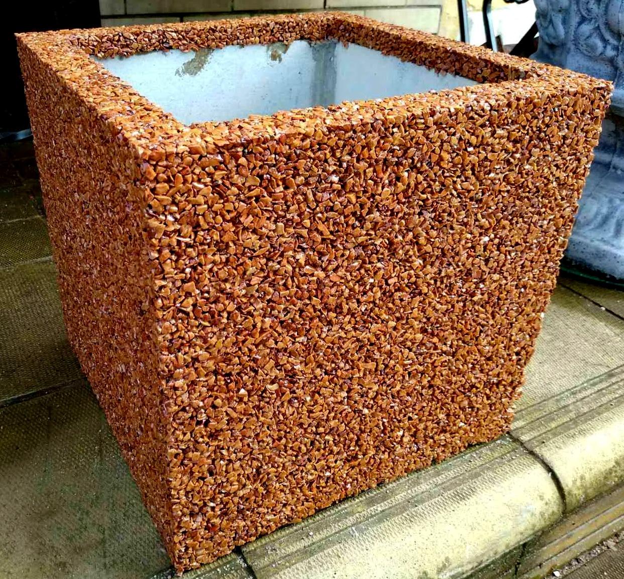 35х35х30 см вазон квадратный красный