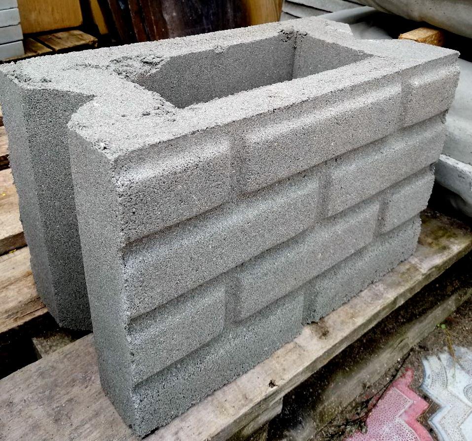 блок рядный узкий кирпич