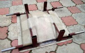 форма колпак забора подмытый бетон