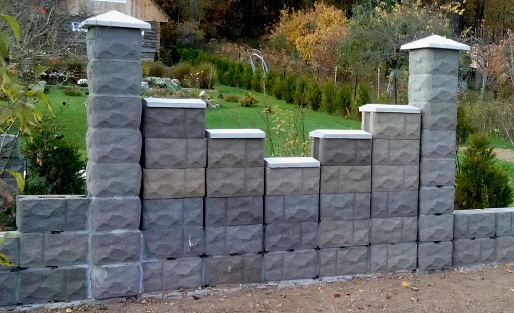 рваный камень рядовой блок