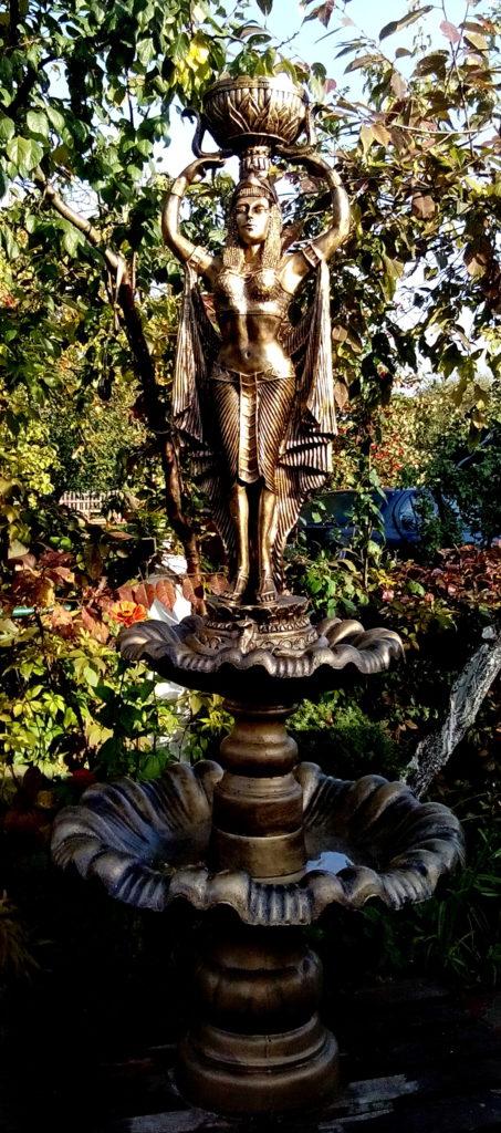 фонтан на 2 чаши+ кашпо египтянка