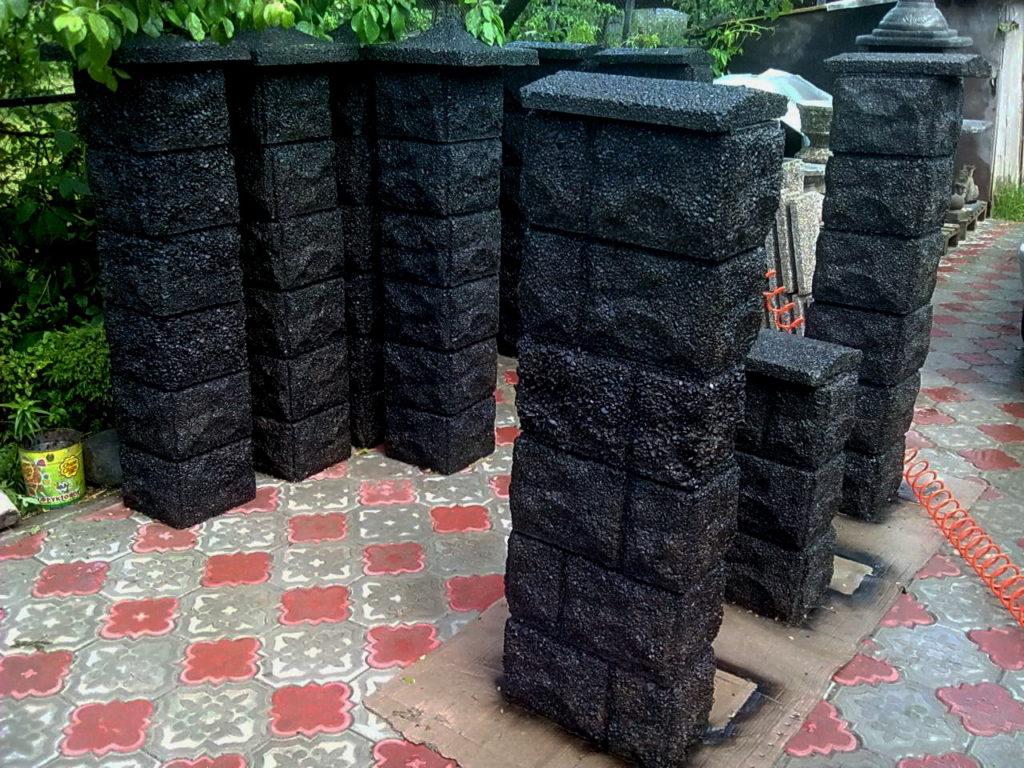 блок ряда черный