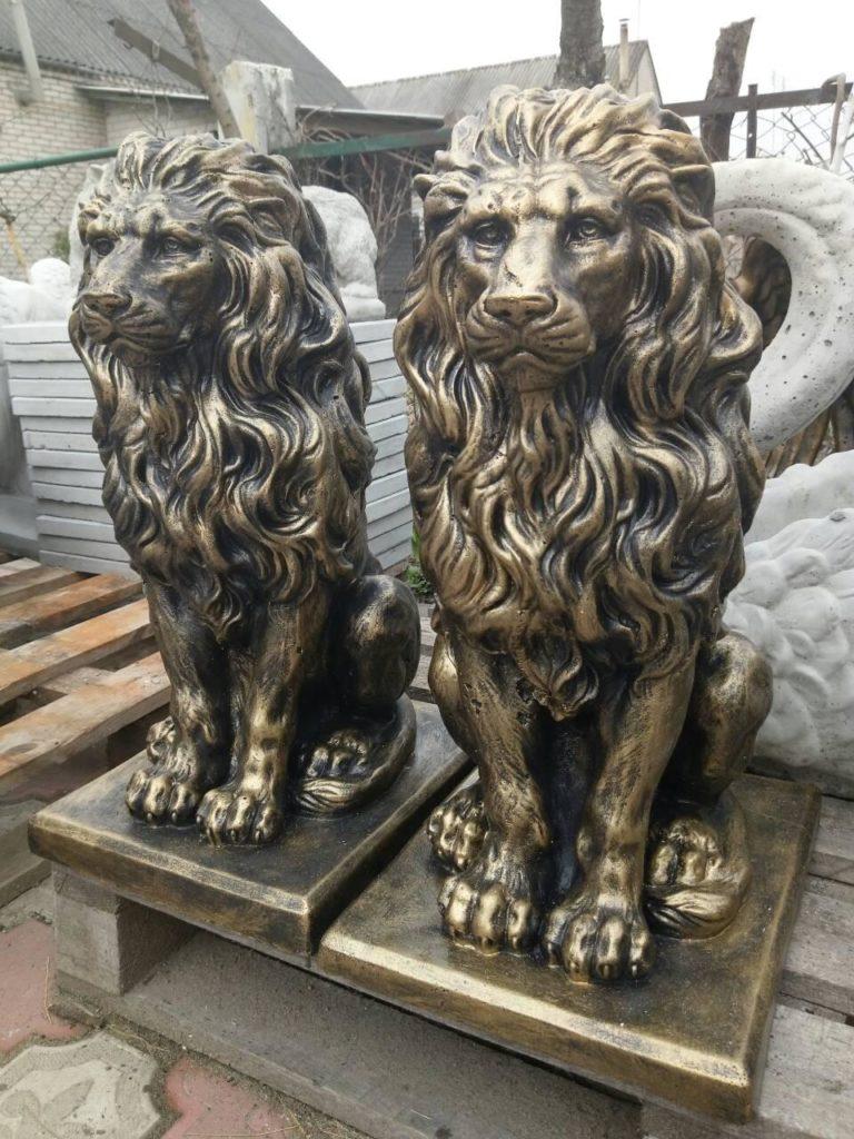 львы бетонные 57 см