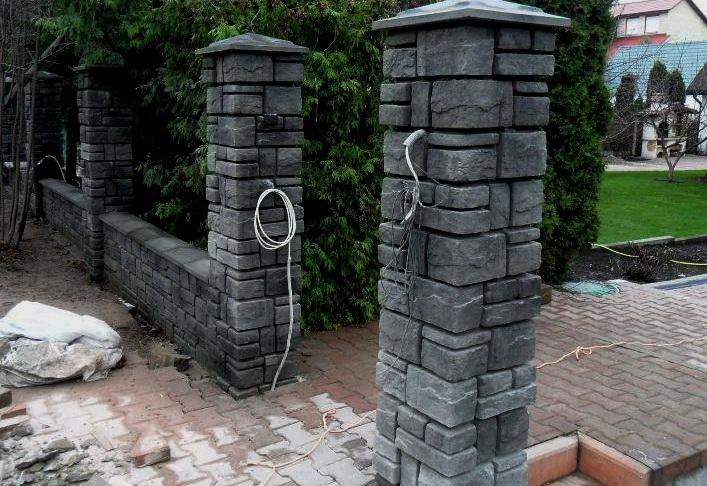 Забор с фактурой Камни