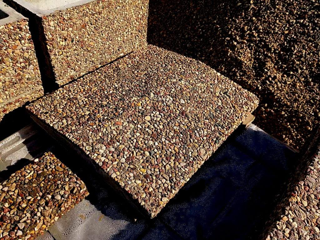 колпаки по технологии мытый бетон
