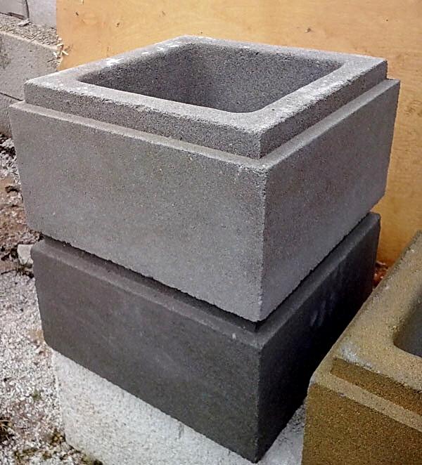 блок столба гладкий с фаской